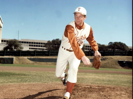 Burt Hooton played for University of Texas and was a three-time All-American from 1969–71.