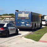Police responded to a report of a gun on a SCAT bus.