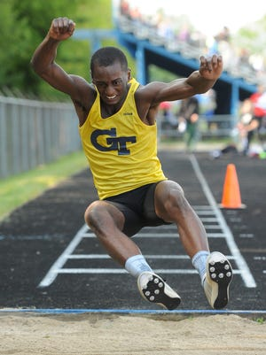 Germantown's Shon Pratcher qualified for state in the long jump and triple jump for the third straight year.