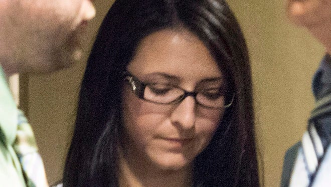 Emma Czornobaj is pictured at the Montreal Courthouse in Montreal on June 3.