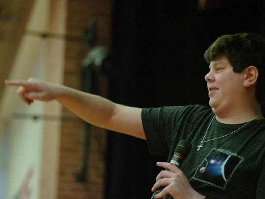 Trevor Sullivan spoke to students at Berkshire Middle School.