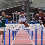 Fiyin Olusola is one of seven Wolf Pack athletes competed in this week's NCAA Preliminary Round at the University of Kansas.