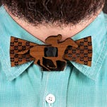Derby men's attire: Only in Kentucky will you find bow ties made of bourbon barrels