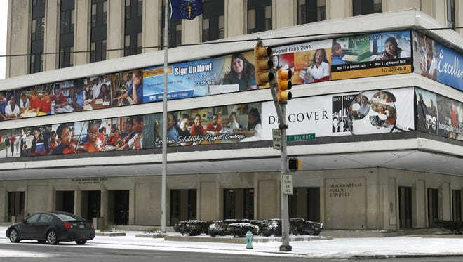 The Indianapolis Public Schools administration building, John Morton-Finney Center for Educational Services, on the northwest corner of North Delaware and East Walnut streets, is shown on Tuesday, Jan. 26, 2010.