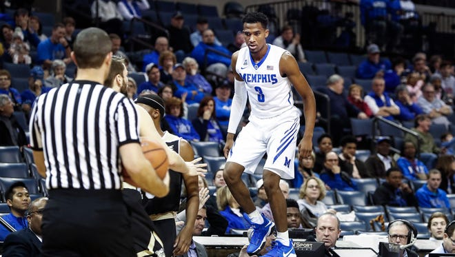 Memphis is hopeful point guard Jeremiah Martin won't miss much time after suffering a hip injury Saturday at Tulsa.