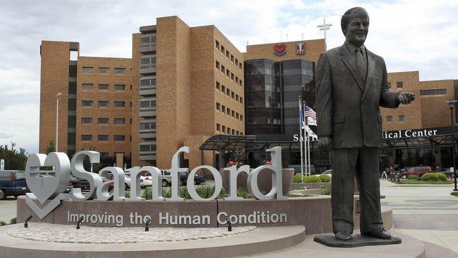 The Sanford Health campus in Sioux Falls.