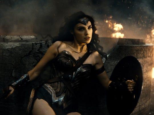 """Wonder Woman (Gal Gadot) lives for battle in """"Batman"""