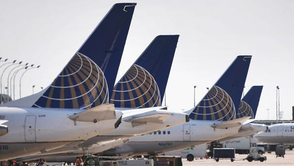 United Airlines jets are pictured at Chicago O'Hare