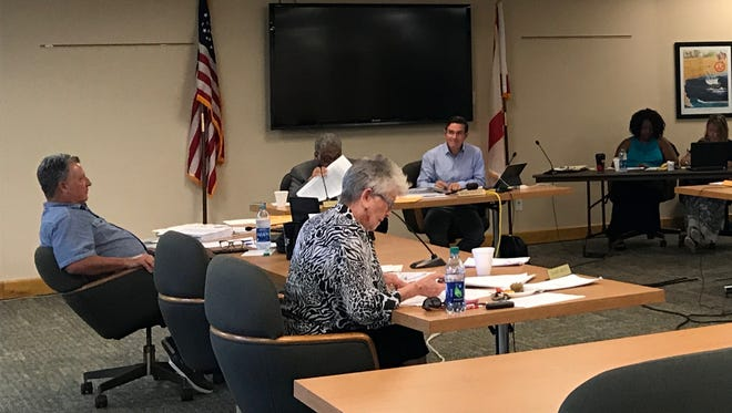 The Pensacola City Council hears a briefing on the 2018 budget from city staff members at a budget workshop meeting Tuesday, Aug. 1, 2017.