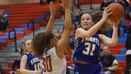 O'Gorman's Emma Ronsiek attempts to pass the ball past