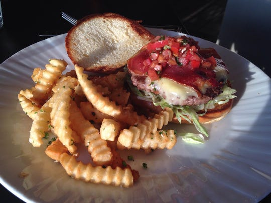 The Sinatra Burger at Louie's Wine Dive.