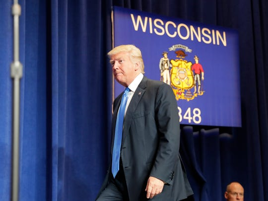 Presidential candidate Donald Trump enters his campaign