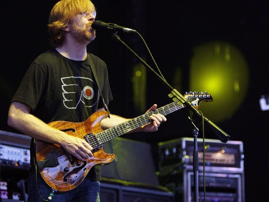 Guitarist/vocalist Trey Anastasio and the other members of Phish will perform at Klipsch Music Center on June 26.
