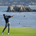 Jordan Spieth keeps pace with Tiger Woods, at least for now