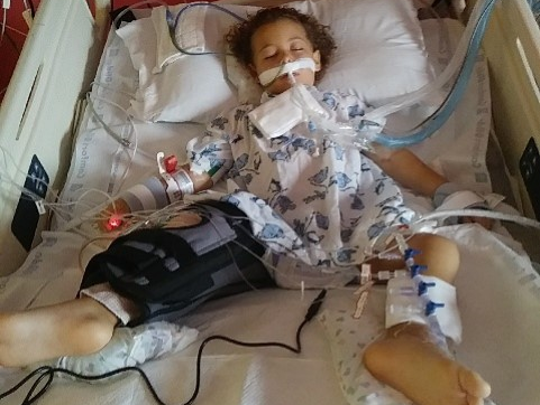 Violet Jalil, 3, is recovering at St. Mary's Medical