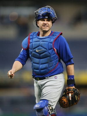 The Nationals stole seven times off Cubs catcher Miguel Montero.
