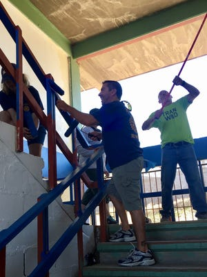 A team of Rotary members from across the Valley painted a middle school in Mexico as a project over the weekend.