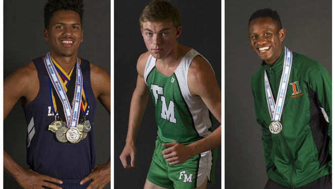The News-Press All-Area Boys Track and Field Player of the Year finalists.