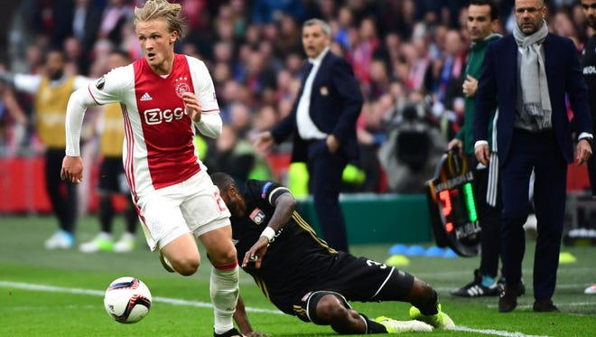 Kasper Dolberg is a part of Ajax's youth movement.