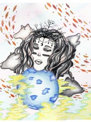 Moon Goddess by Josiah Garavito