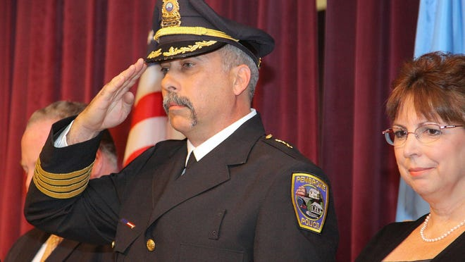 Pembroke Police Chief Richard Wall was sworn in as police chief in 2012. Patriot Ledger file photo