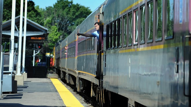 """MBTA spokesperson Joe Pesaturo said Tuesday that the """"Heart to Hub"""" train is scheduled to leave Worcester at 6:30 a.m. and depart South Station at 4:35 p.m., with a stop in Framingham."""