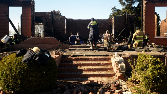 ATF and other agencies were at Trinity United Methodist Church in Nutbush Saturday sifting through the destroyed church.