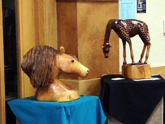 Woodcarving of all types are part of the exhibit at