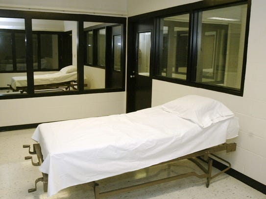 This is a 2005 photo of the death chamber at the Missouri