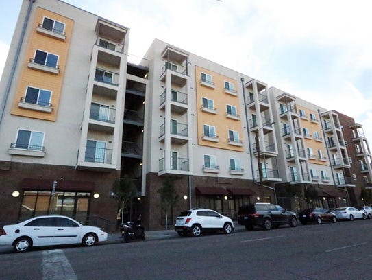 The 501 apartments officially opened Thursday.