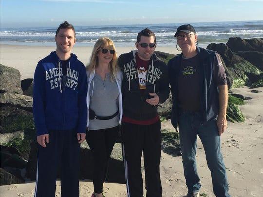 Alex (left to right), Robyn, Jamie and Allan Schneider