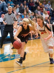 Maryville's Abbie Anderson steals the ball from William