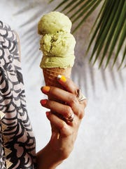 Avocado makes this sorbet creamy, while passion fruit puree adds fruitiness.