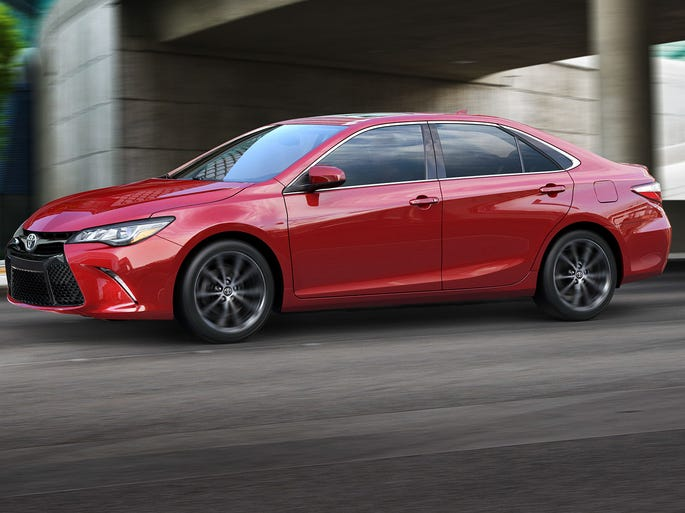 Toyota gave flowing lines to the redesigned Camry