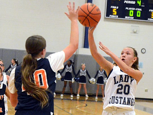 Knox Doss Middle at Drakes Creek's Abby Lucas shoots