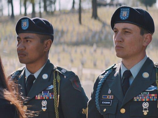 "Beulah Koale (left) and Miles Teller star in ""Thank"