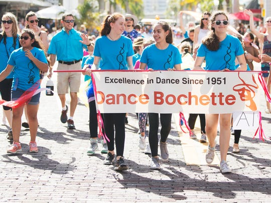 Dancers from Dance Bochette were among the thousands of people attending the 2018 Edison Festival of Light Junior Parade in downtown Fort Myers.