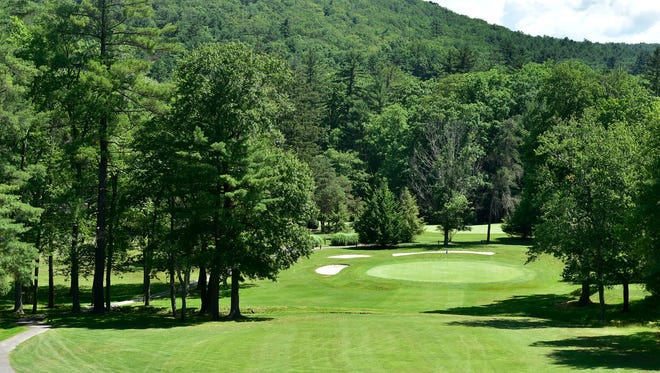 This long shot at No. 9 was taken on Thursday, June 30, 2016. The Caledonia Golf Club is under new management.