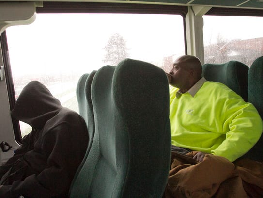 Marcus Williams, at left, started his return trip home