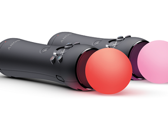 A promotional image featuring the PlayStation Move controllers.