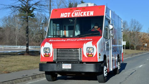 The KFC Nashville Hot Chicken food truck.