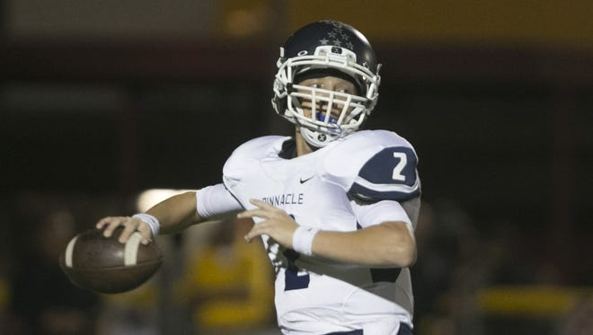 Phoenix Pinnacle's Spencer Rattler (2) is one of the best quarterbacks in 6A.