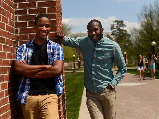 St. Norbert College students Akeem Edmonds, left, and Alexander Clemetson, right, are the student commencement speakers at this year's graduation ceremony.