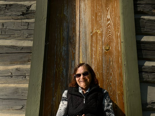 Loretta Metoxen, Oneida historian, tells about the log cabins on tribal property in Green Bay.