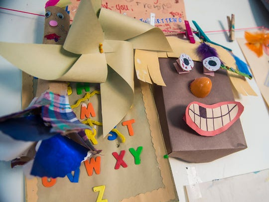 Art, masks and thank-you letters from children who