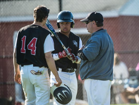 South Western's Miles Francis talks with the coach