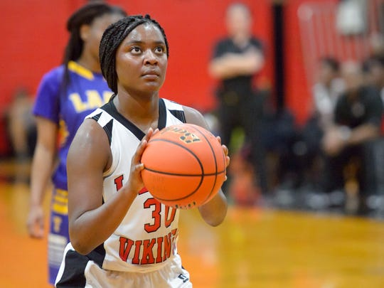 Northside's Brittney Smith led the Lady VIkings to the semifinals with a 23-point performance at South Lafourche.