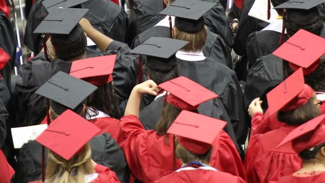 Images the Central High School graduation at JQH Arena on May 9, 2014.
