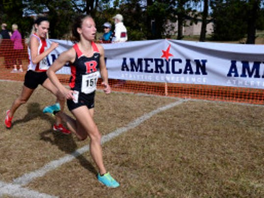 Allison Payenski, a senior from Hunterdon Central, finished 29th in the American Athletic Conference and 89th in the NCAA Mid-Atlantic regional in 2013. (Photo courtesy of American Athletic Conference)