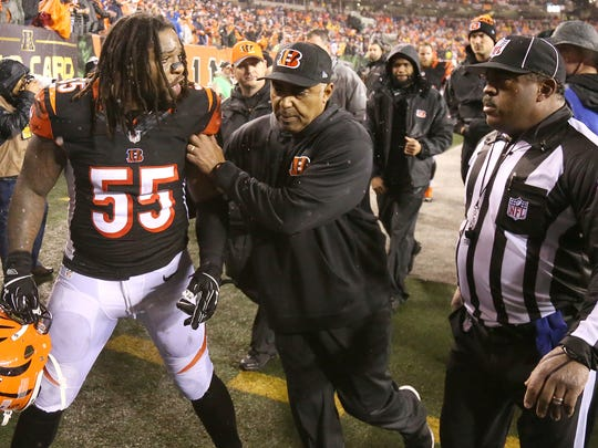 The 18-16 playoff loss to the Steelers on Jan. 9 will go down as one of the most disappointing sports moments in Cincinnati history. As a kid from Cincinnati, the team giving the game they had won away was heartbreaking. Bengals linebacker Vontaze Burfict was so hot after the game, he got in the face of one of the officials as head coach Marvin Lewis restrained him. I've never seen a professional athlete try to get in the face of an official after a game was over.